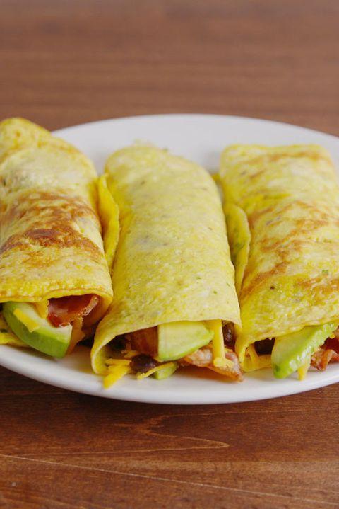 Low-Carb Breakfast Burrito Vertical