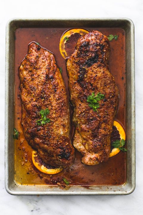 Glazed Pork Tenderloin Vertical