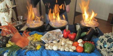 Food, Cuisine, Dish, Meal, Vegetable, Vegetarian food, Flame, Finger food, Fire, Ingredient,