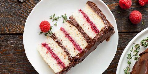 Dish, Food, Cuisine, Dessert, Semifreddo, Ingredient, Cake, Frozen dessert, Baked goods, Raspberry,