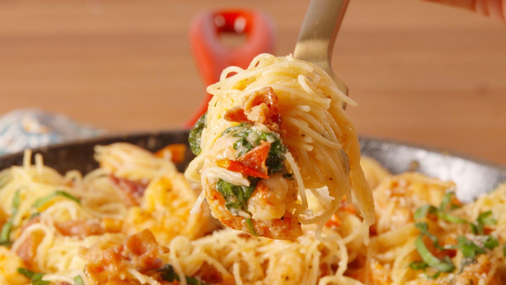Best Bacon Shrimp Pasta Recipe How To Make Bacon Shrimp Pasta