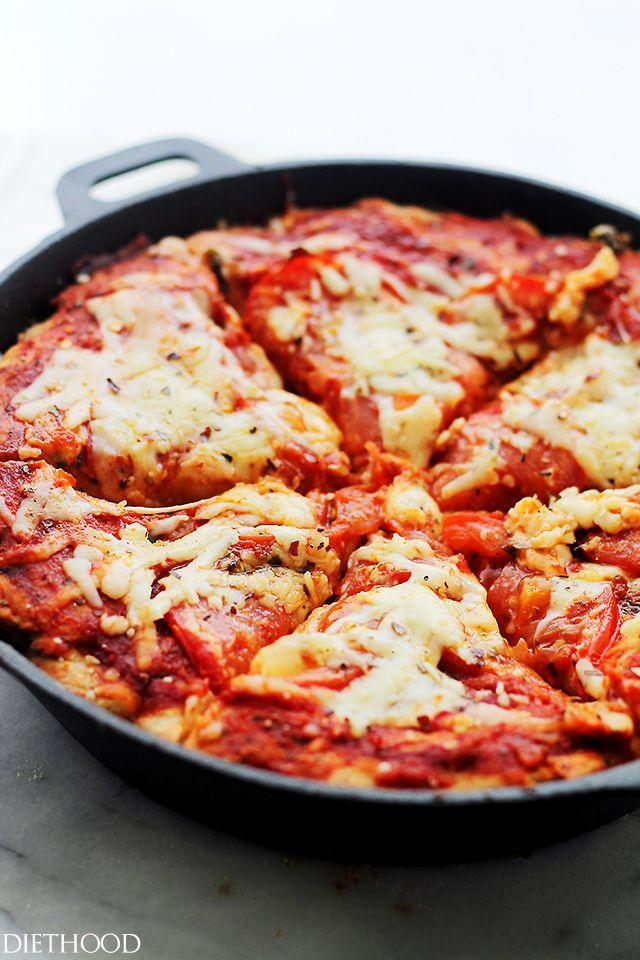 Whole Wheat Deep Dish Skillet Pizza
