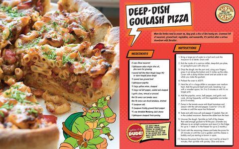 Teenage mutant ninja turtles pizza cookbook delish deep dish goulash pizza teenage mutant ninja turtles forumfinder Image collections