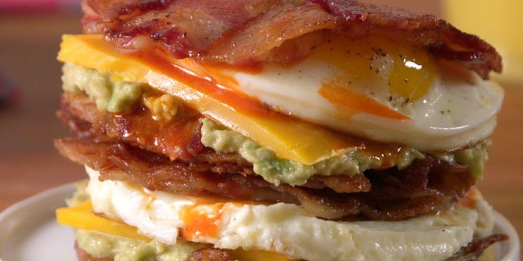Best Bacon Weave Breakfast Sandwich Recipe How To Make