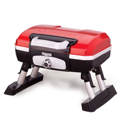 Cuisinart CGG-180T Petit Gourmet Portable Tabletop Gas Grill in Red