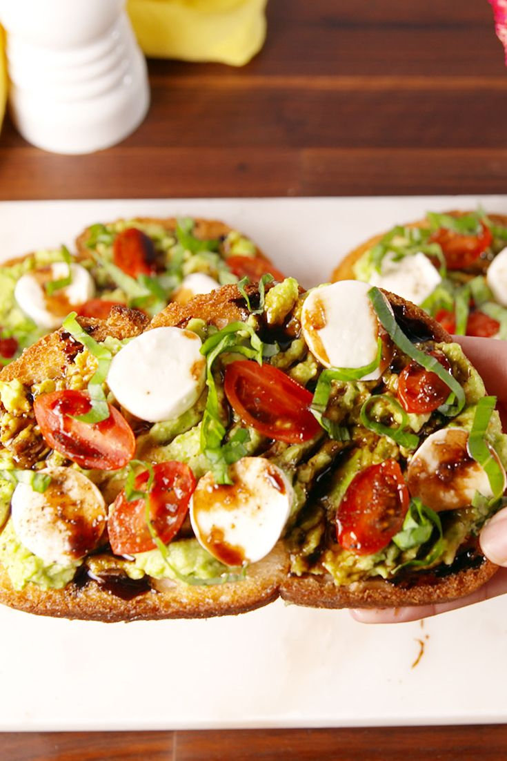 Watch Caprese and Smashed Avocado Toast video