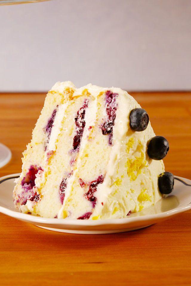 This Lemon Blueberry Cake Tastes Like Spring Break
