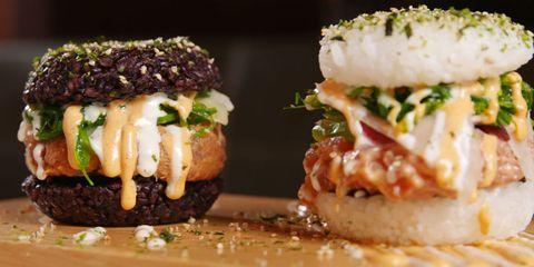 Sushi Burger Horizontal Pair