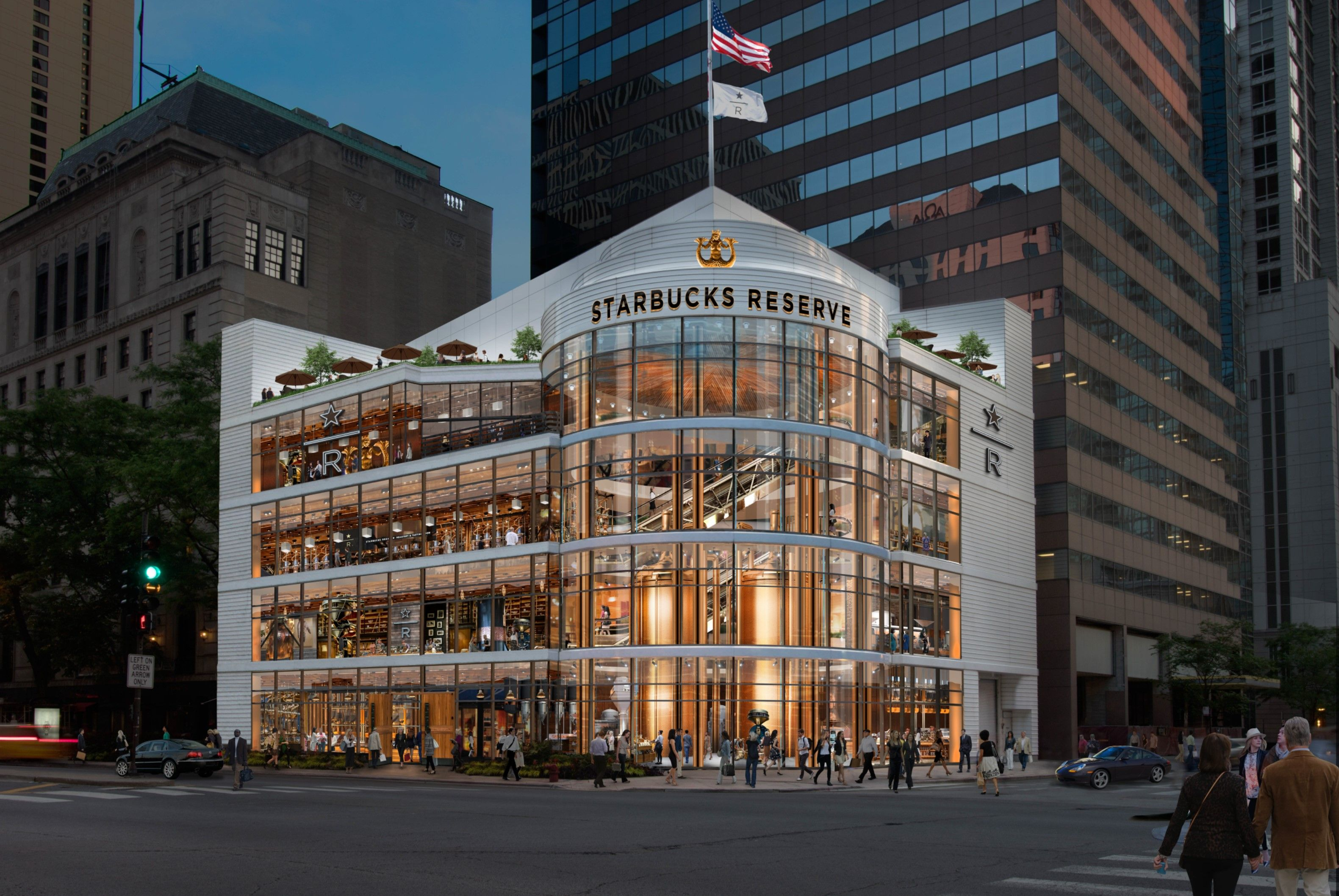 The World's Largest Starbucks Is Opening in Chicago Next Month and It Looks Gorgeous
