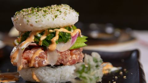 Sushi Burger Hoirzontal