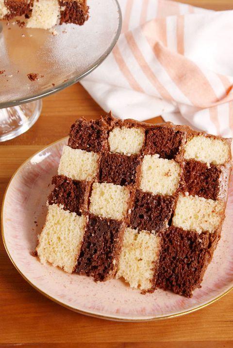 Best Checkerboard Cake Recipe How To Make Checkerboard Cake