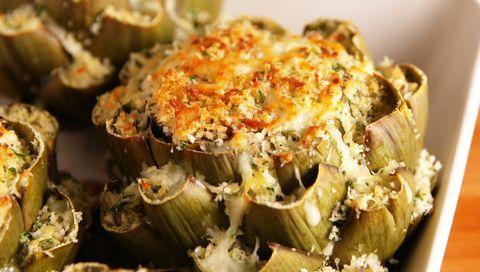 cheesy stuffed artichoke
