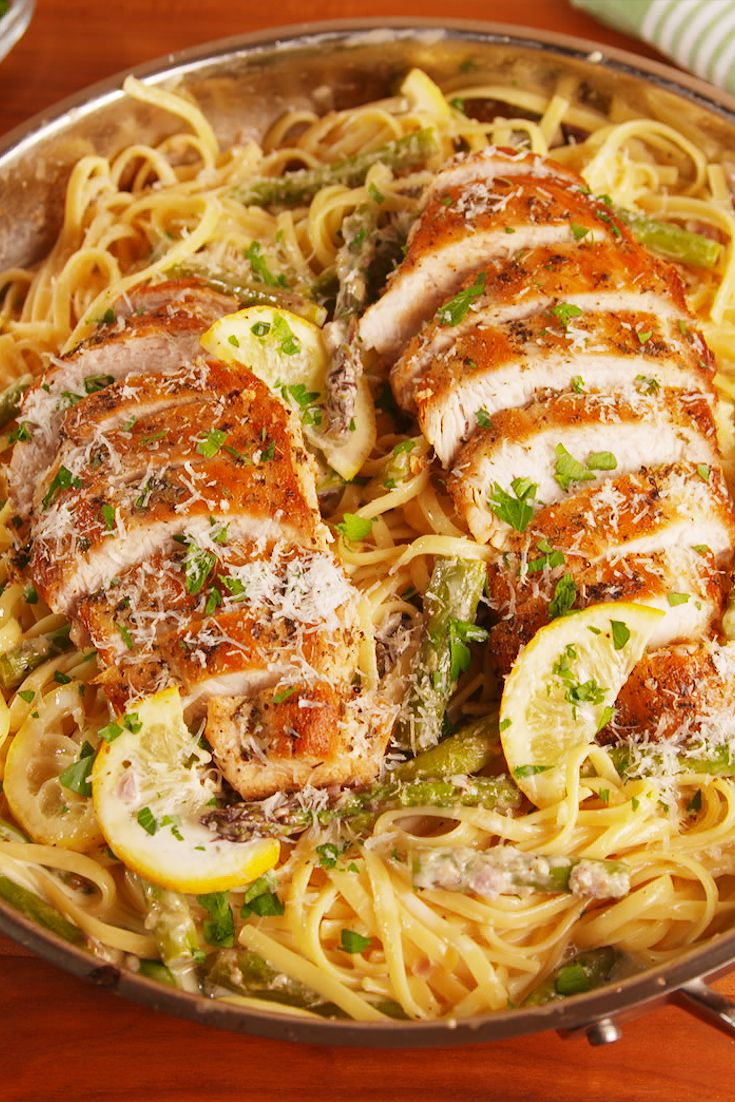 Best Lemon Asparagus Chicken Pasta Recipe How To Make Lemon