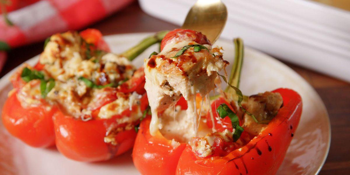 best caprese stuffed peppers recipe how to make caprese stuffed