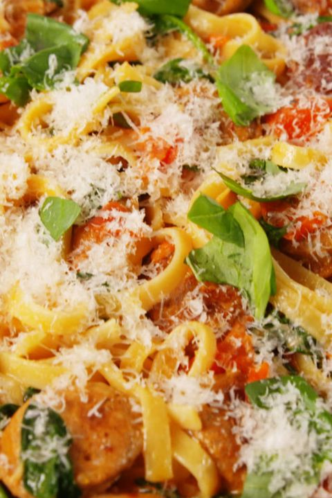 30 best italian pasta recipes easy italian pasta dishes to try creamy tuscan sausage pasta forumfinder Images