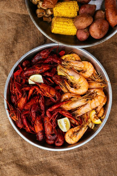 Crawfish and Shrimp Boil at Bevi Seafood Company Beauty