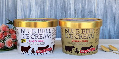 Wedding Cake Ice Cream Courtesy Of Blue Bell