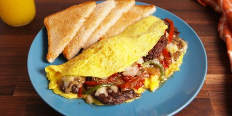 Philly Cheesesteak Omelet - Delish.com