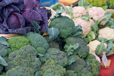 cabbage, cauliflower, broccoli,