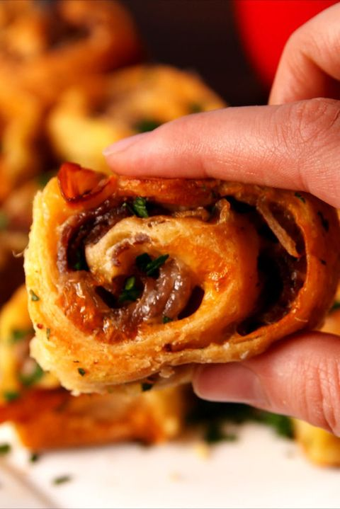 French Dip Roll Ups Vertical