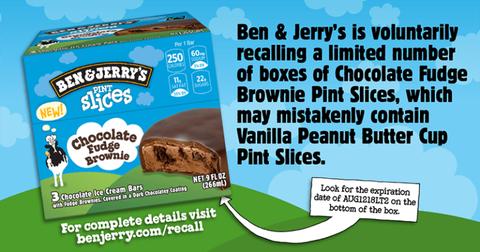 Ben & Jerry's recall