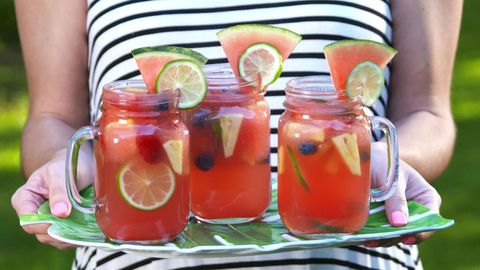 recipe: watermelon alcoholic punch bowl [13]