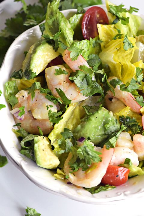 Cilantro-Lime Shrimp Salad Vertical