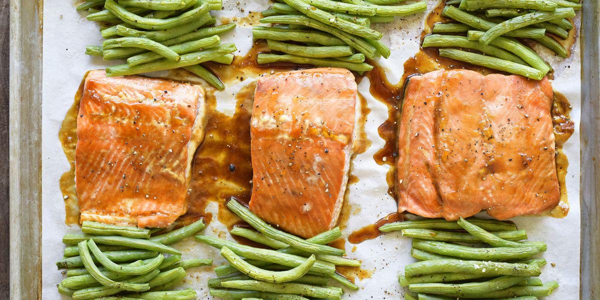 Best Teriyaki Glazed Salmon Recipe How To Make Teriyaki Glazed Salmon Delish Com