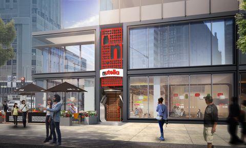 Digital rendering of Nutella Cafe in Chicago