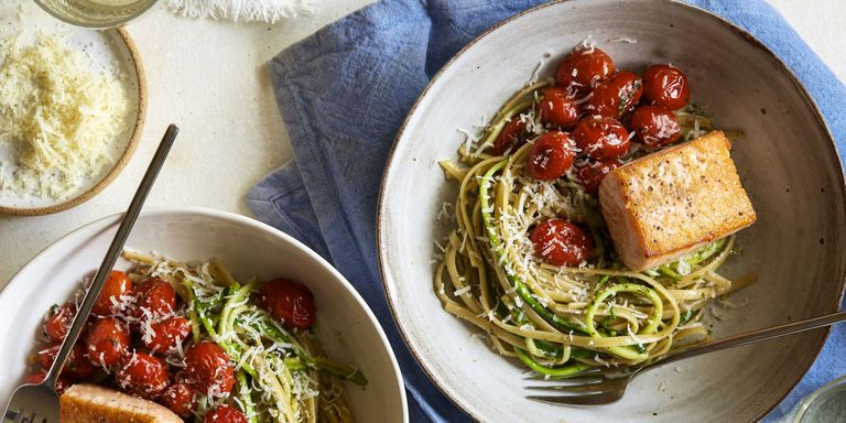 17 best side dishes for salmon easy side dish recipes good with 5050 pesto spaghetti horizontal forumfinder Images