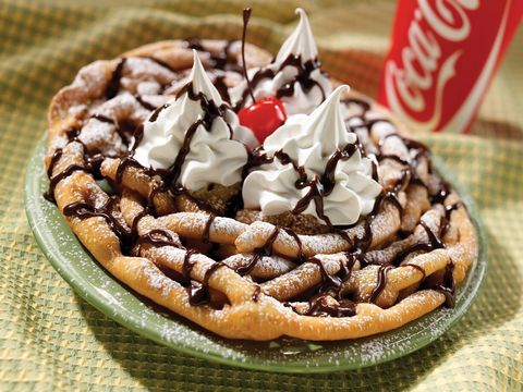 six flags funnel cake