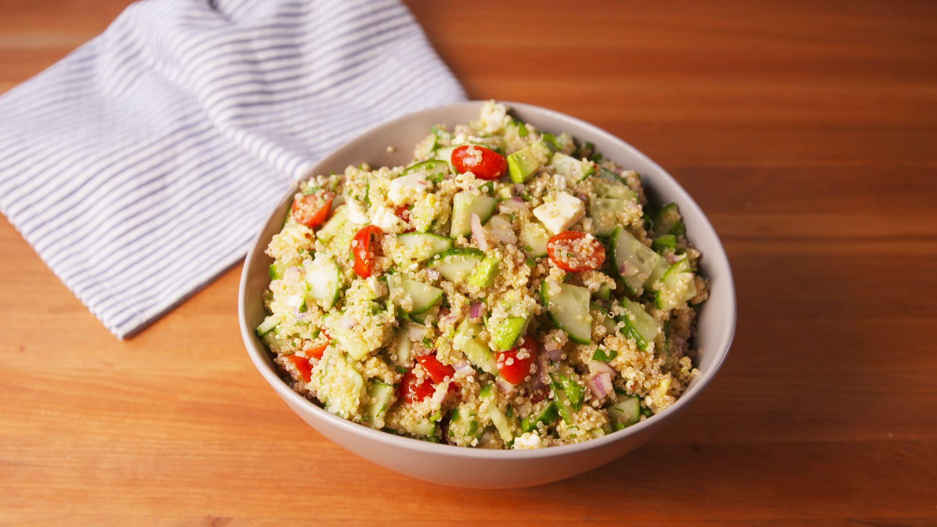 Easy Zesty Mediterranean Quinoa Salad Recipe How To Make Quinoa Salad