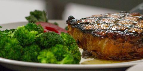 Dish, Food, Cuisine, Ingredient, Pork chop, Meat, Produce, Steak, À la carte food, Recipe,