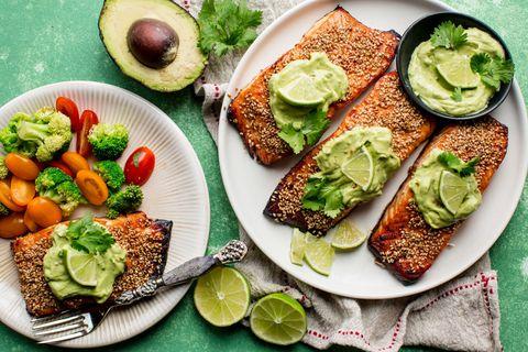 Creamy Avocado Lime Salmon Horizontal