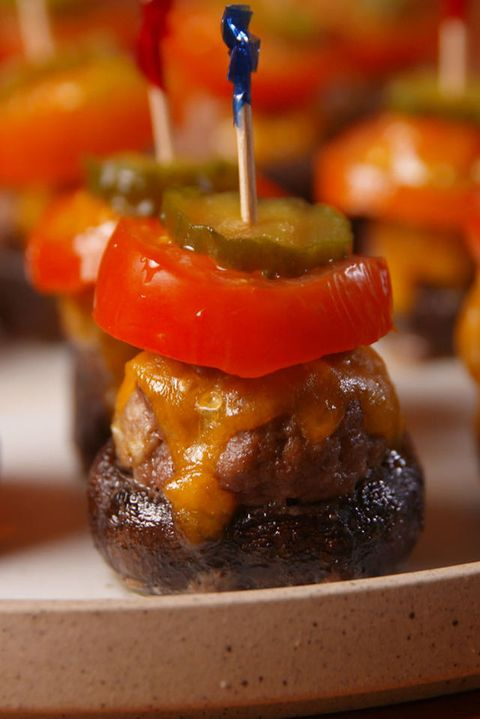 Burger Stuffed Mushrooms Vertical
