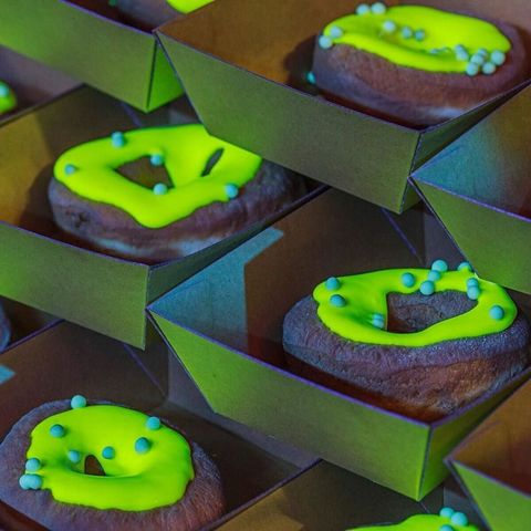 Green, Sweetness, Purple, Gas, Confectionery, Dessert, Baked goods, Finger food, Recipe, Still life photography,
