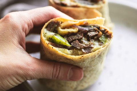 Philly Cheesesteak Wraps Horizontal