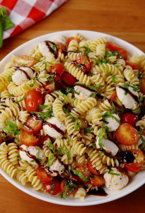 Caprese Pasta Salad Vertical