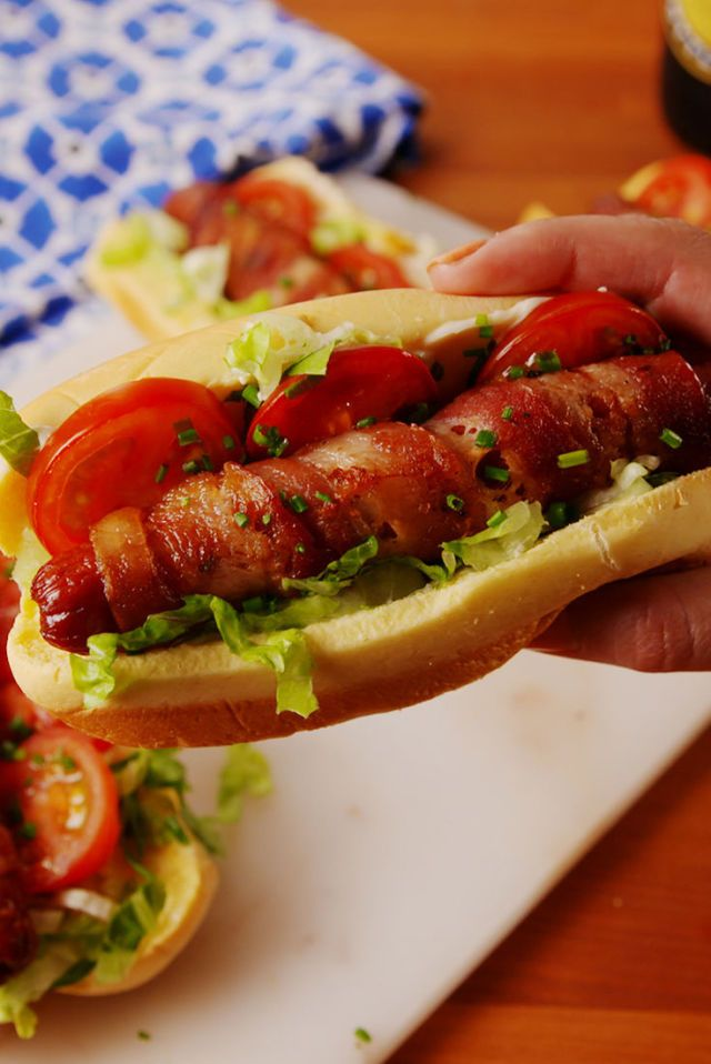 8 Easy Bacon-Wrapped Hot Dogs