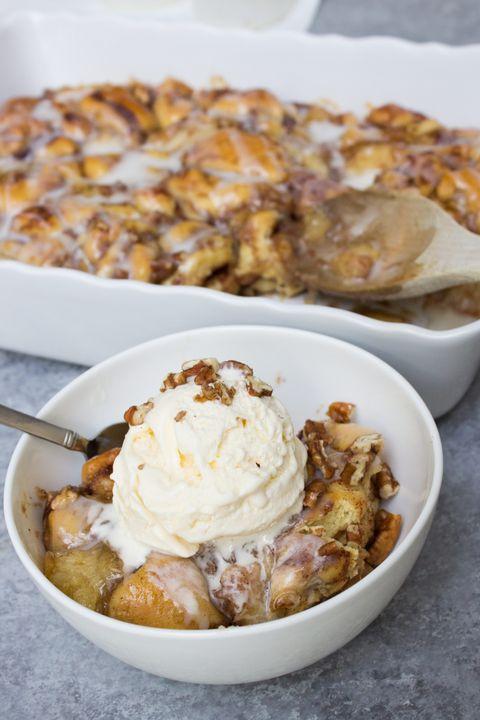 Dish, Food, Cuisine, Dessert, Ingredient, Sundae, Produce, Ice cream, Sour cream, Bread pudding,