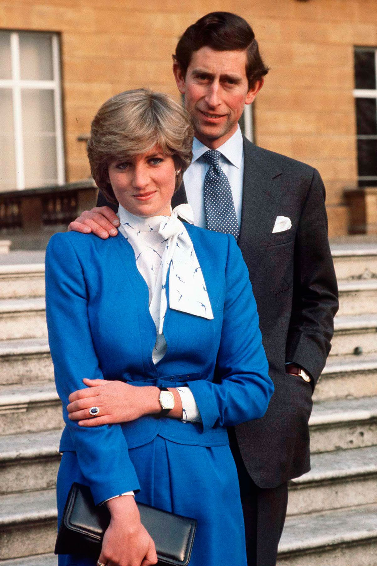 """<p>In her engagement photos, a fresh-facedLady Diana Spencer wore sapphire blue to match her engagement ring, and the photos were an instant hit.</p><p><strong data-redactor-tag=""""strong"""" data-verified=""""redactor"""">RELATED: </strong><a href=""""http://www.redbookmag.com/love-sex/relationships/a50421/princess-diana-cbs-documentary/"""" data-tracking-id=""""recirc-text-link"""" target=""""_blank""""><strong data-redactor-tag=""""strong"""" data-verified=""""redactor"""">Charles and DianaOnly Met 12 Times Before Getting Married</strong></a> </p>"""