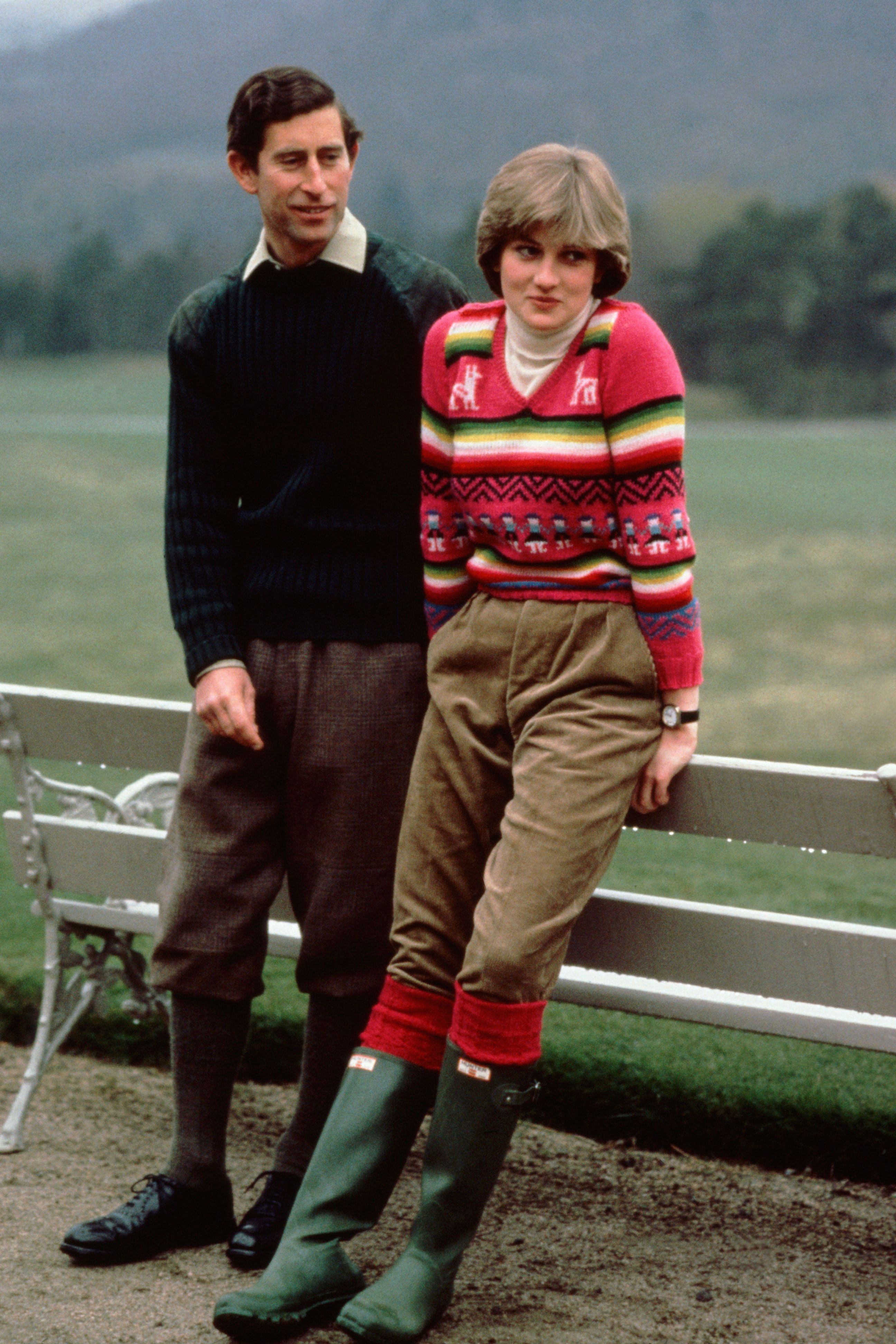 <p>No one wears wellies like Princess Diworewellies. Although not one of her most famouslooks, this outfit from before her weddinginspired women across the world to haul out their rainboots.</p>