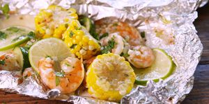 Cilantro-Lime Shrimp Foil Packs
