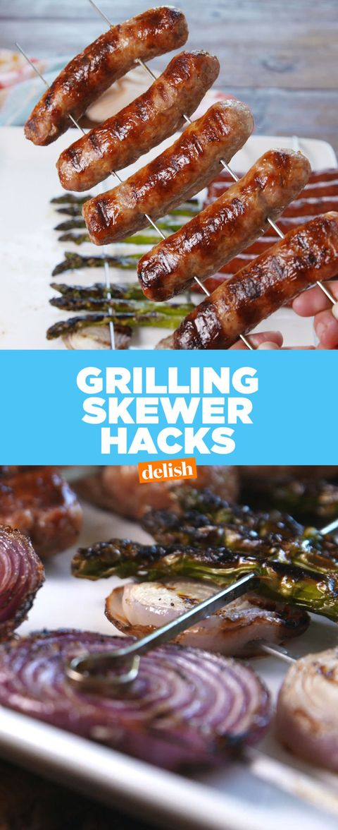 This Skewer Hack Is The Most Genius Way To Flip Food On The Grill