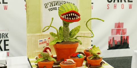 Audrey II Cake At The New York Cake Show