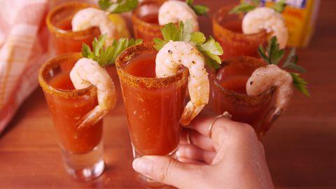Drunken Shrimp Cocktail Horizontal