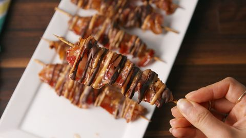 Chocolate Bacon Skewers Horizontal