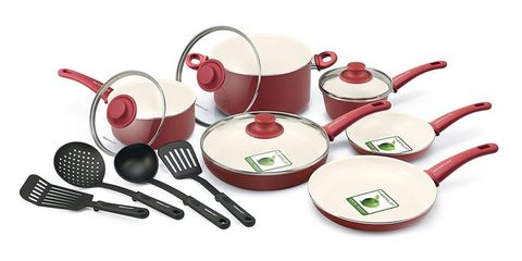 """<p>Add some color to your kitchen.&nbsp;</p><p><strong data-verified=""""redactor"""" data-redactor-tag=""""strong""""><em data-verified=""""redactor"""" data-redactor-tag=""""em"""">BUY NOW: GreenLife, 25% off, <a href=""""https://www.amazon.com/GreenLife-Ceramic-Non-Stick-Cookware-Turquoise/dp/B00IDPVYB8/"""" target=""""_blank"""" data-tracking-id=""""recirc-text-link"""">amazon.com</a></em></strong><a href=""""https://www.amazon.com/GreenLife-Ceramic-Non-Stick-Cookware-Turquoise/dp/B00IDPVYB8/""""></a></p>"""