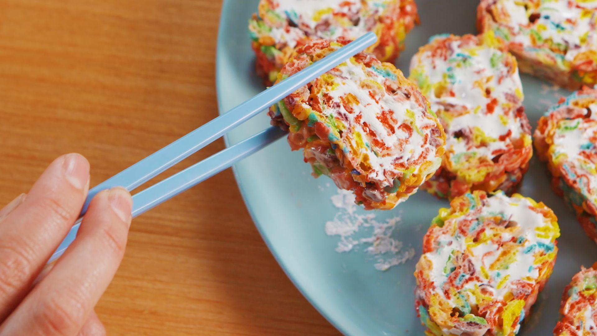 Fruity Pebbles Sushi