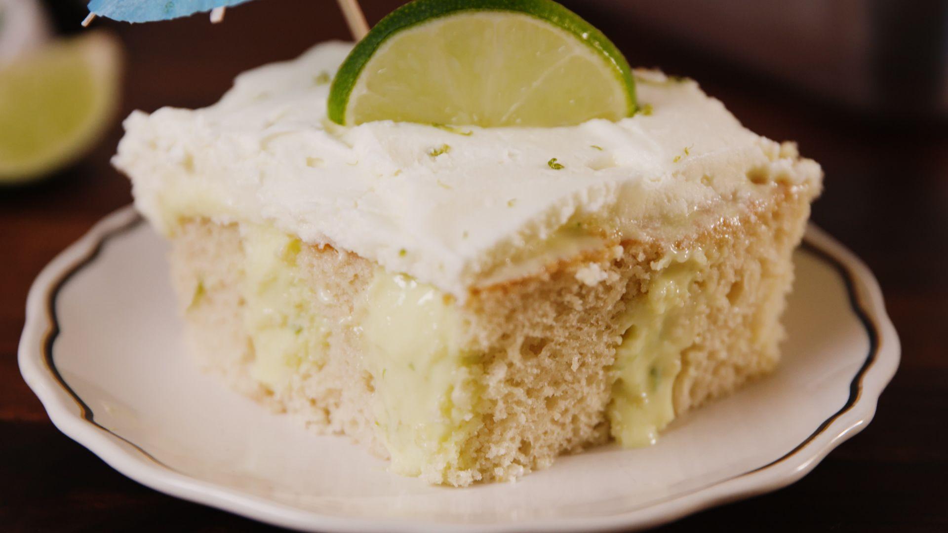 Best Margarita Poke Cake Recipe How To Make Margarita Poke Cake